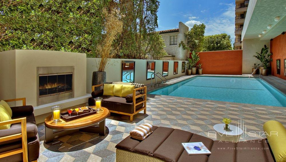 Outdoor Pool at Hotel Palomar Beverly Hills, Los Angeles, CA, United States