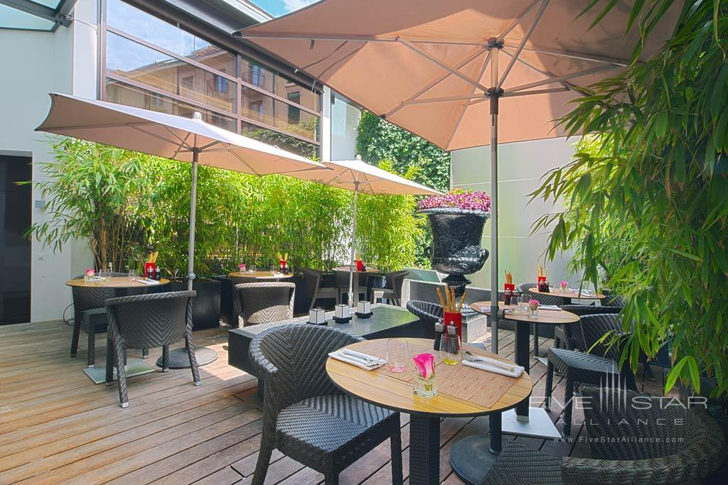 Terrace Dining at Eastwest Hotel, Geneva, Switzerland