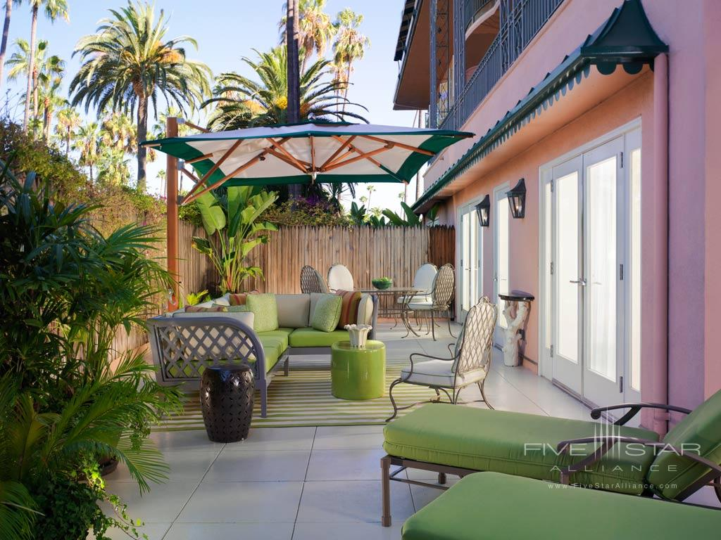 Premier Suite Patio at Beverly Hills Hotel, Beverly Hills, CA