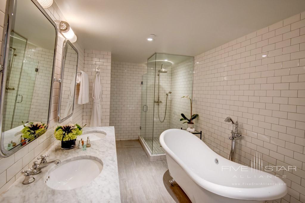Suite Bath at The Plymouth Miami Beach, Miami Beach, FL