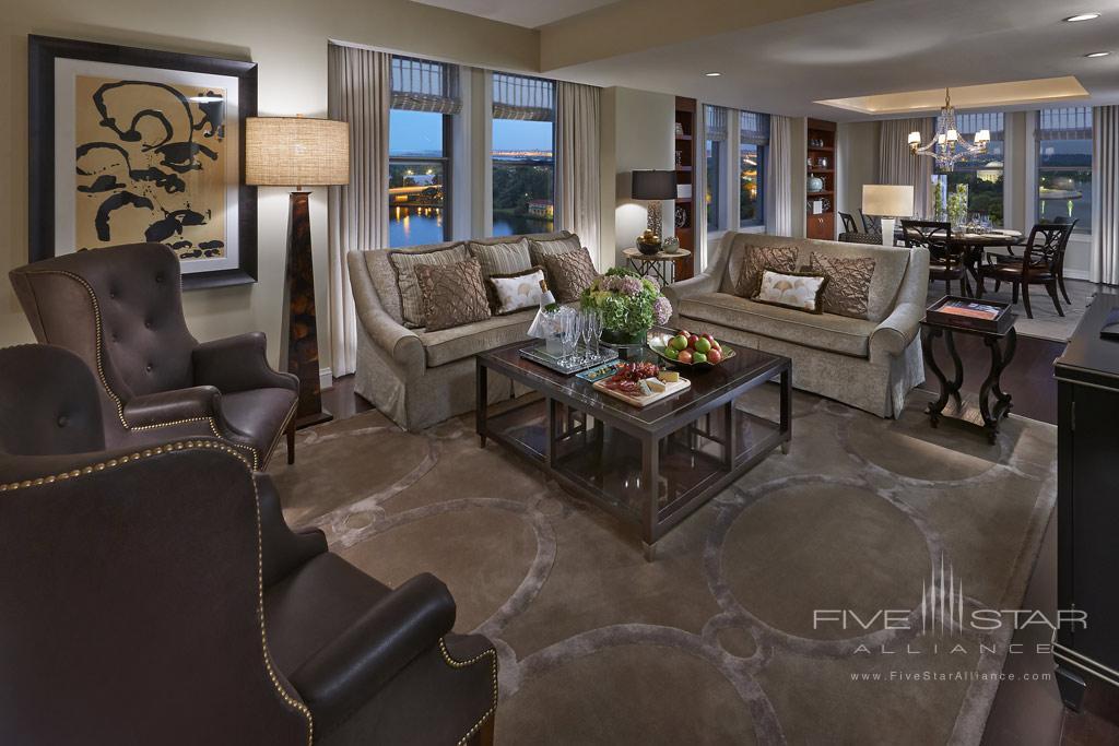 Jefferson Suite Living Room at Mandarin Oriental Washington, DC, United States