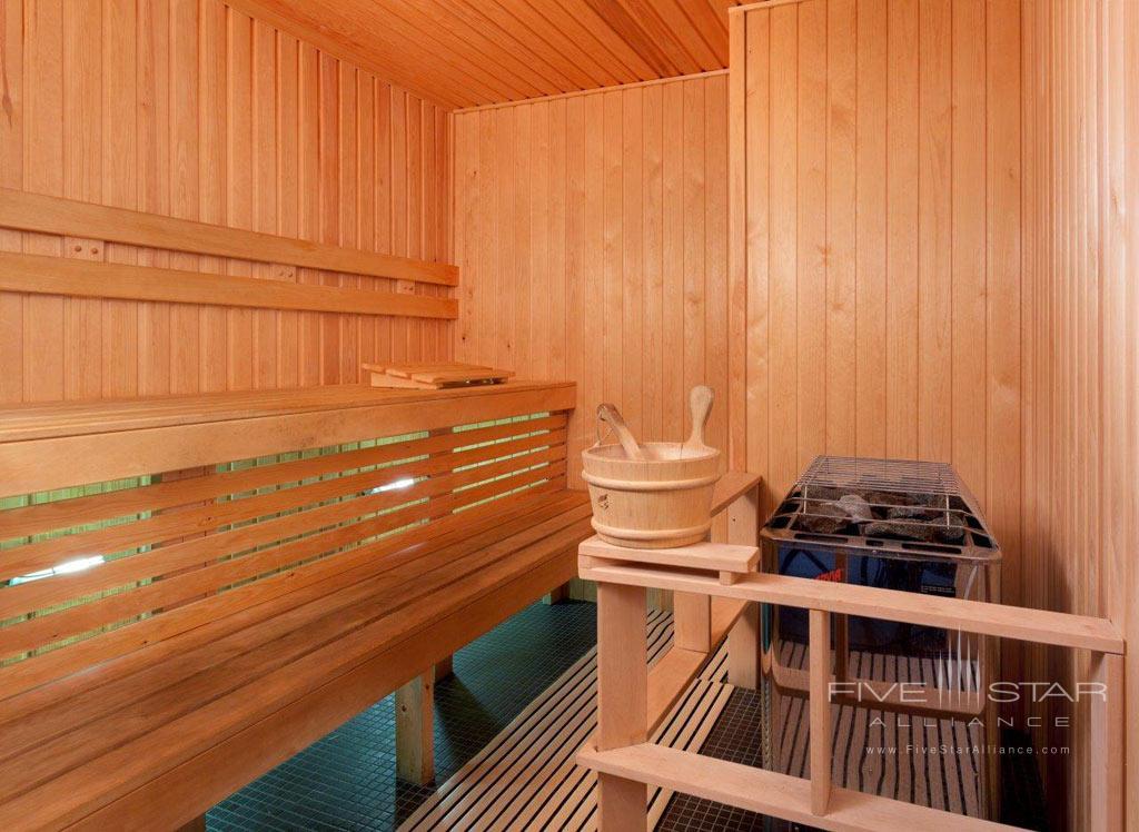 Sauna of Auberge Saint-Antoine, Quebec City, PQ, Canada