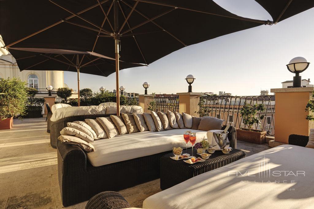 Terrace Lounge at Grand Hotel Via Veneto, Rome, Lazio, Italy