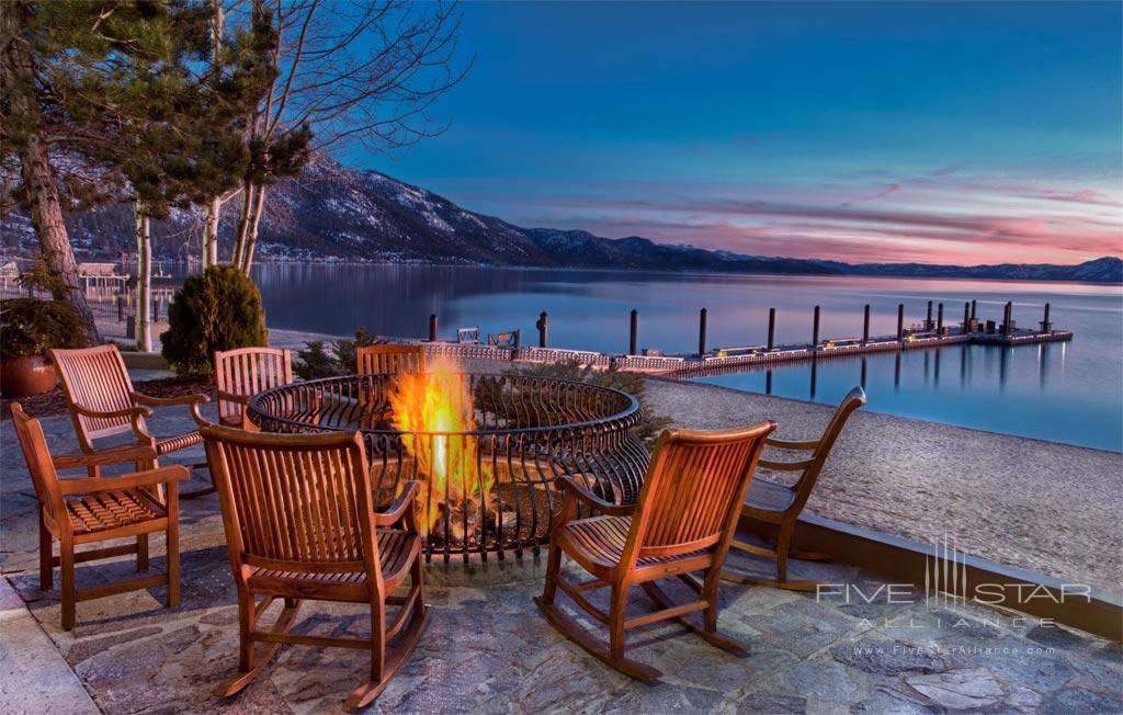 Fire pit at Hyatt Regency Lake Tahoe Resort Spa and Casino, Incline Village, NV