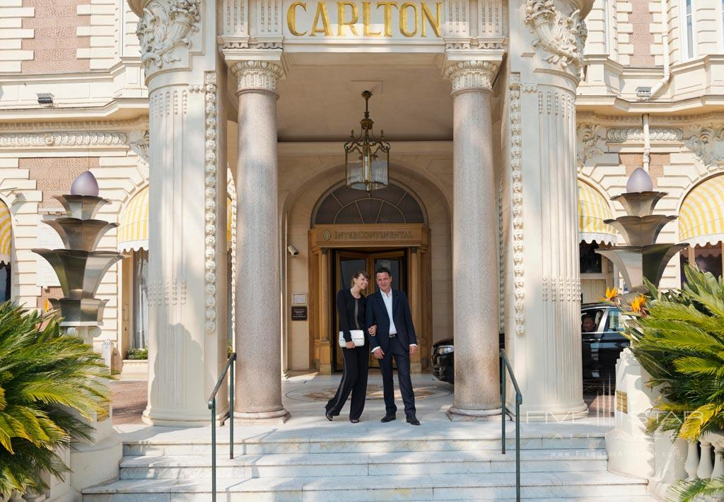Entrance to InterContinental Carlton Cannes, Cannes, France