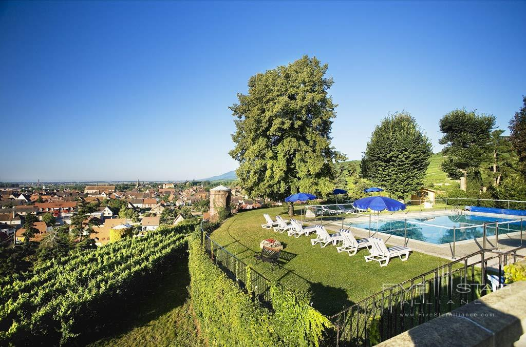 Outdoor Pool at Chateau D'Isenbourg, Rouffach, France