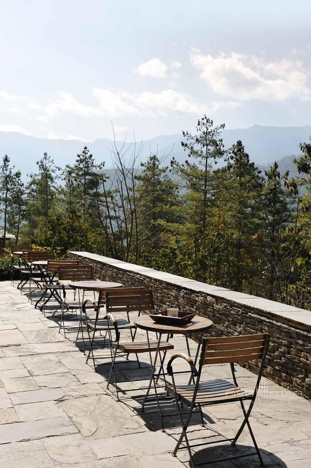 Terrace Lounge at COMO Uma Paro, Paro, Bhutan