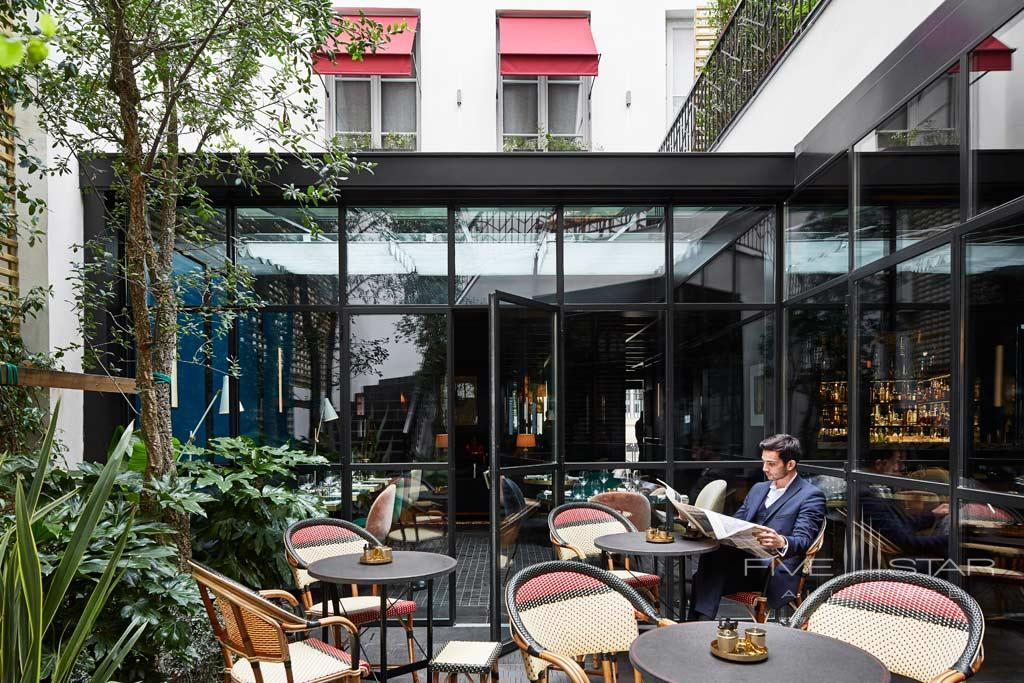 Courtyard at Le Roch Hotel & Spa, Paris, France