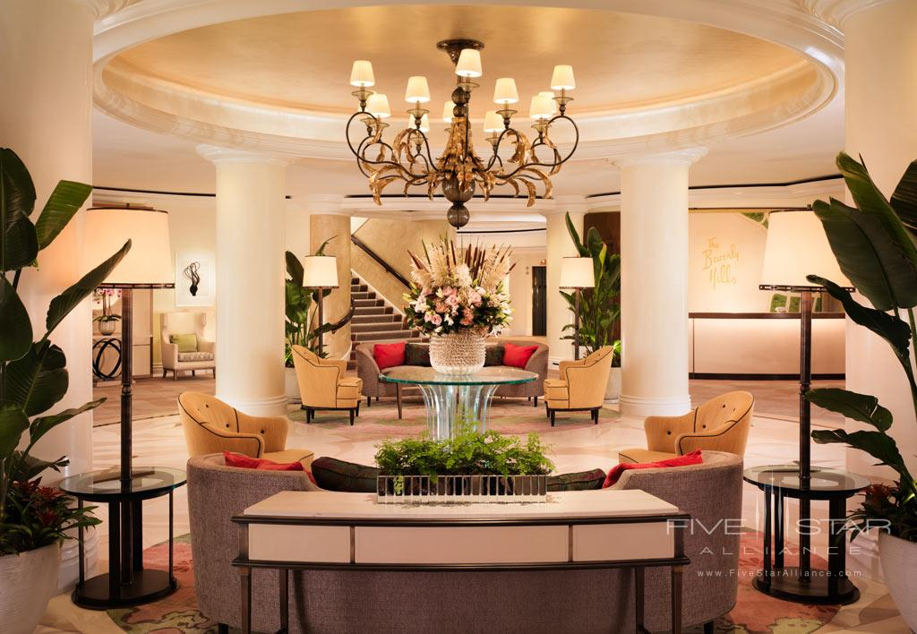Lobby of Beverly Hills Hotel, Beverly Hills, CA