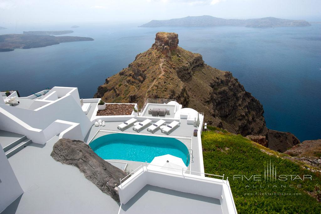 Villa view at Grace Santorini