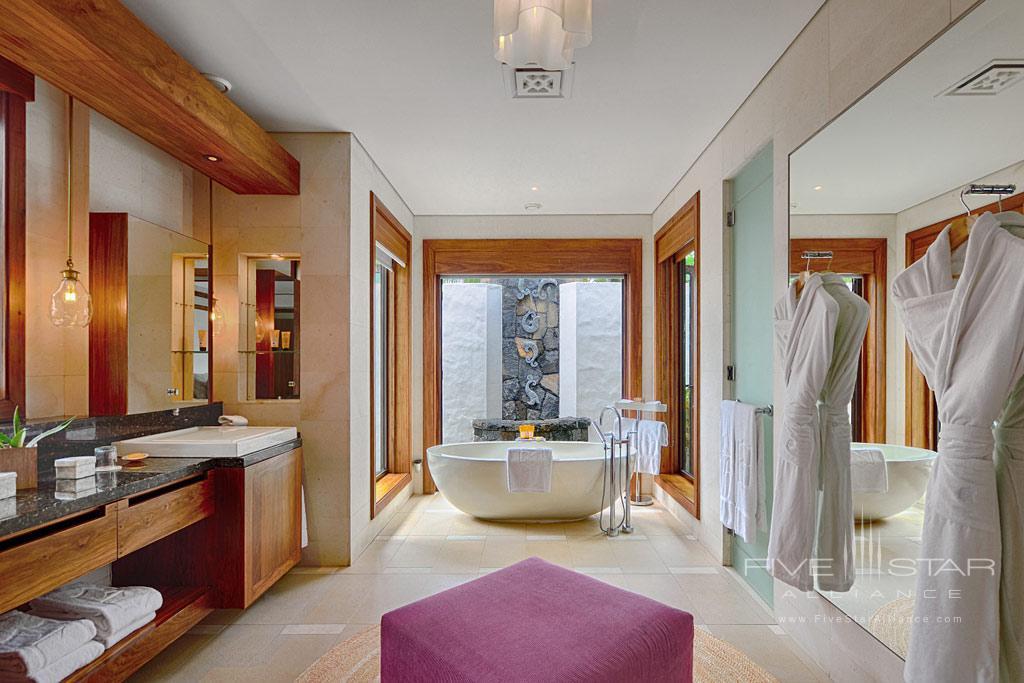 Beach Villa Bath at Shangri-La's Le Touessrok Resort, Trou d'Eau Douce, Mauritius
