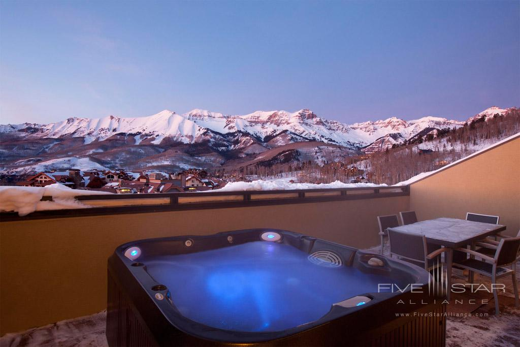 Hot Tub with a view at Lumiere Telluride