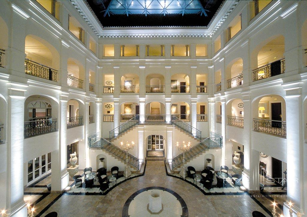 Lobby of Hotel Villa Padierna, Marbella, Spain