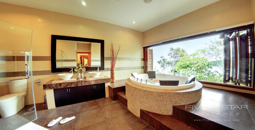 Three Bedroom Deluxe Suite Bath at Bunga Raya Island Resort and Spa, Kota Kinabalu, Malaysia