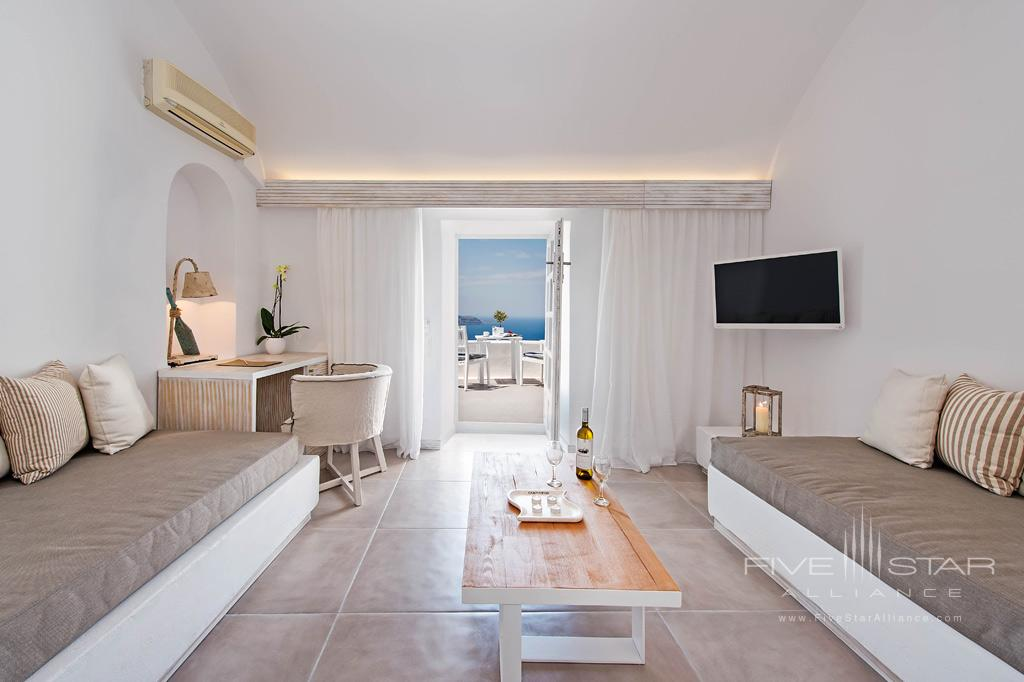 Guest Lounge at Athina Luxury Suites, Greece