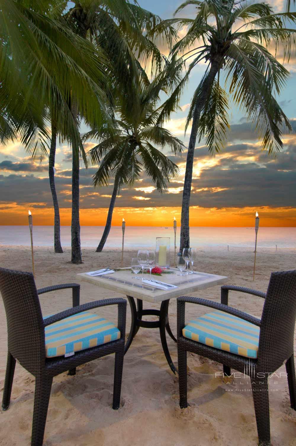 Beach Dine at Fairmont Royal Pavilion, St James, Bridgetown, Barbados