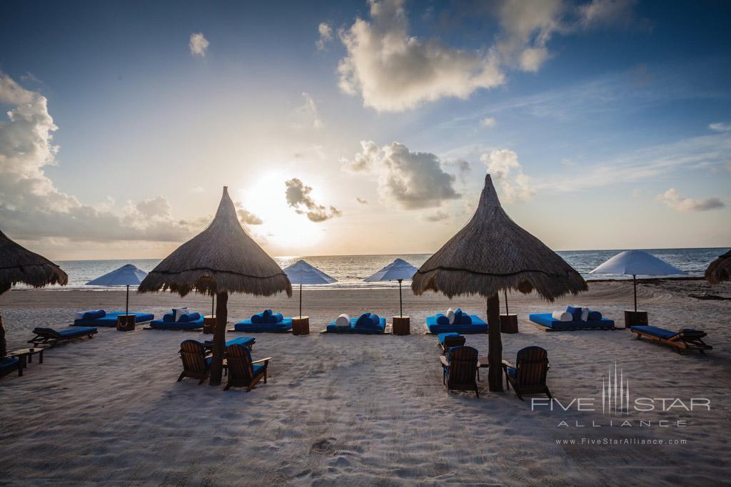 Beach Lounge at Belmond Maroma Resort and Spa, Riviera Maya, Quintana Roo, Mexico