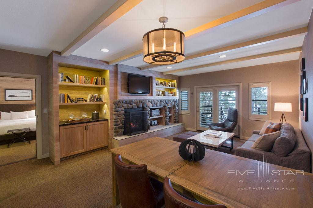 Cottage Living Area at Hyatt Regency Lake Tahoe Resort Spa and Casino, Incline Village, NV