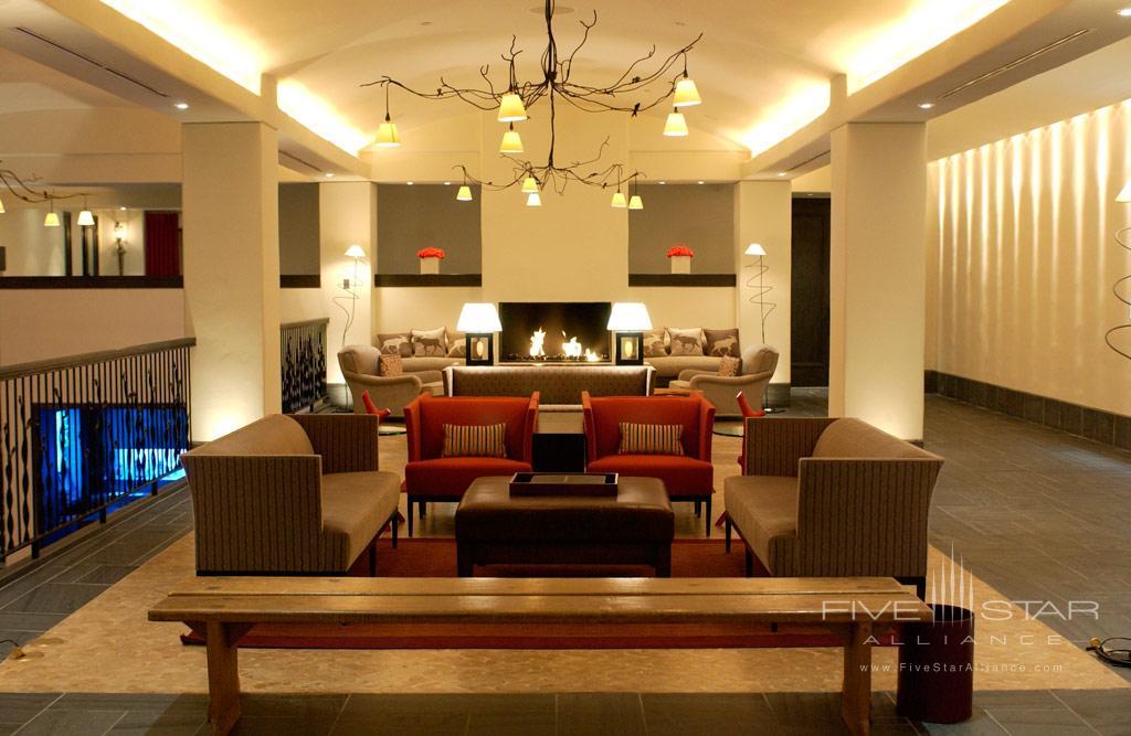 Lobby of Auberge Saint-Antoine, Quebec City, PQ, Canada