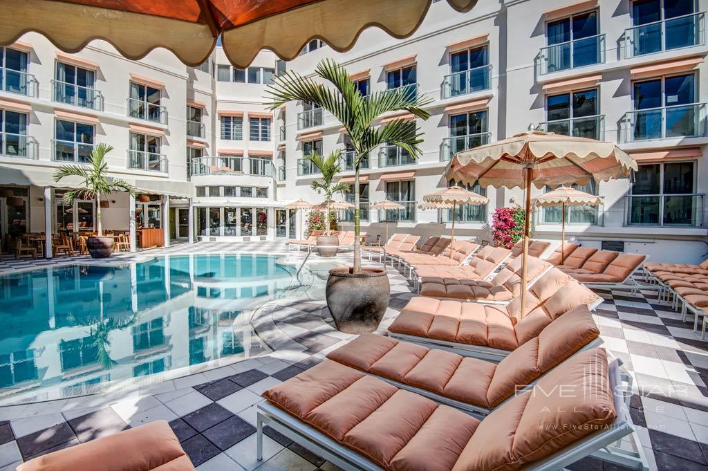 Pool Lounge at The Plymouth Miami Beach, Miami Beach, FL