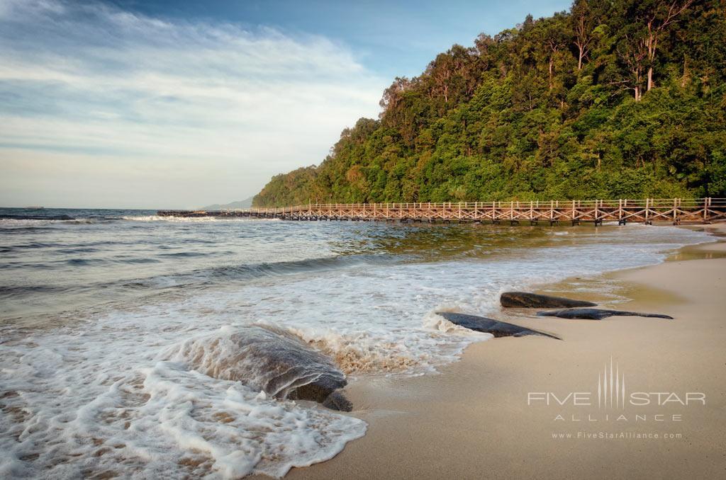 Beach at Bunga Raya Island Resort and Spa, Kota Kinabalu, Malaysia