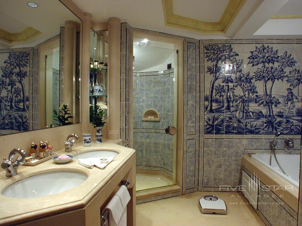 Suite Bath at Olissippo Lapa Palace, Lisbon, Portugal