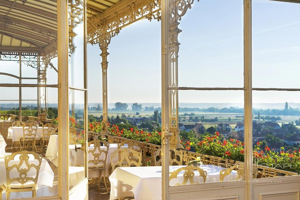 Terrace Dine at Chateau D'Isenbourg, Rouffach, France