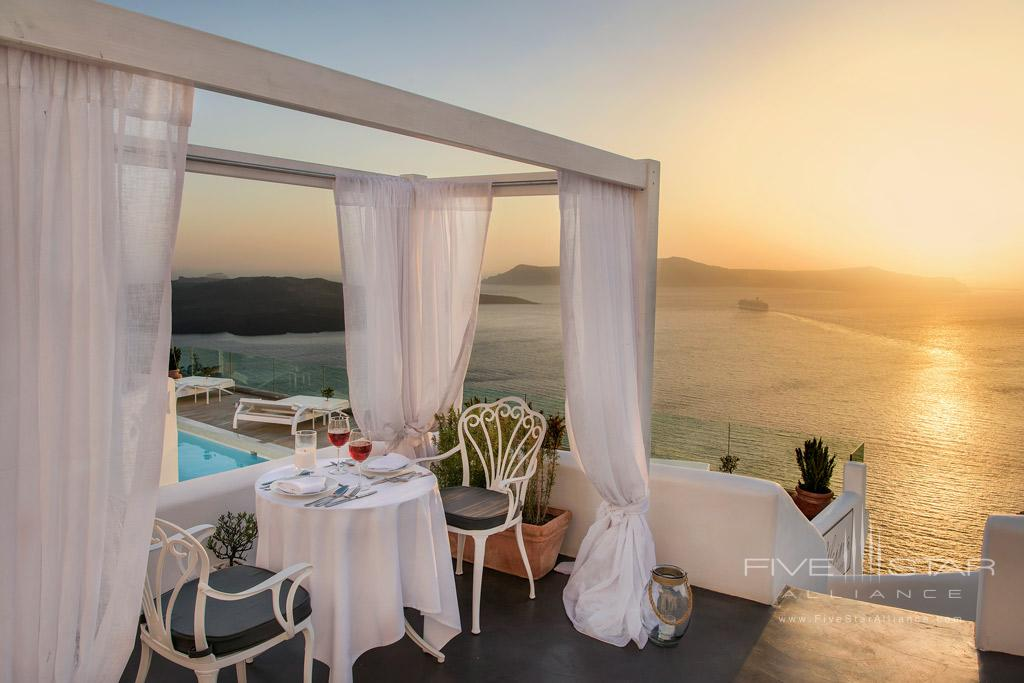 Sunset Dinner at Athina Luxury Suites, Greece