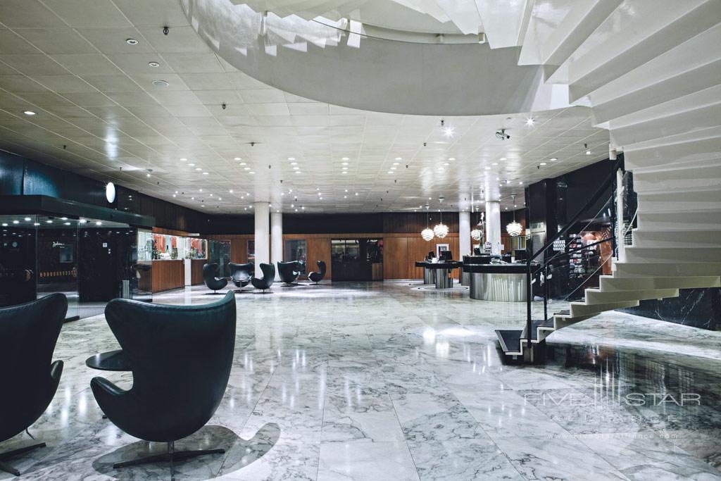 Lobby of Radisson Blu Royal Hotel Copenhagen, Denmark