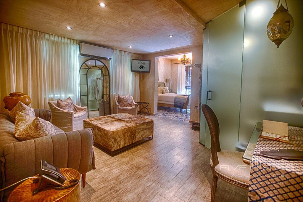 Gran Cru Suite Living Room at Olive Boutique Hotel, San Juan, Puerto Rico