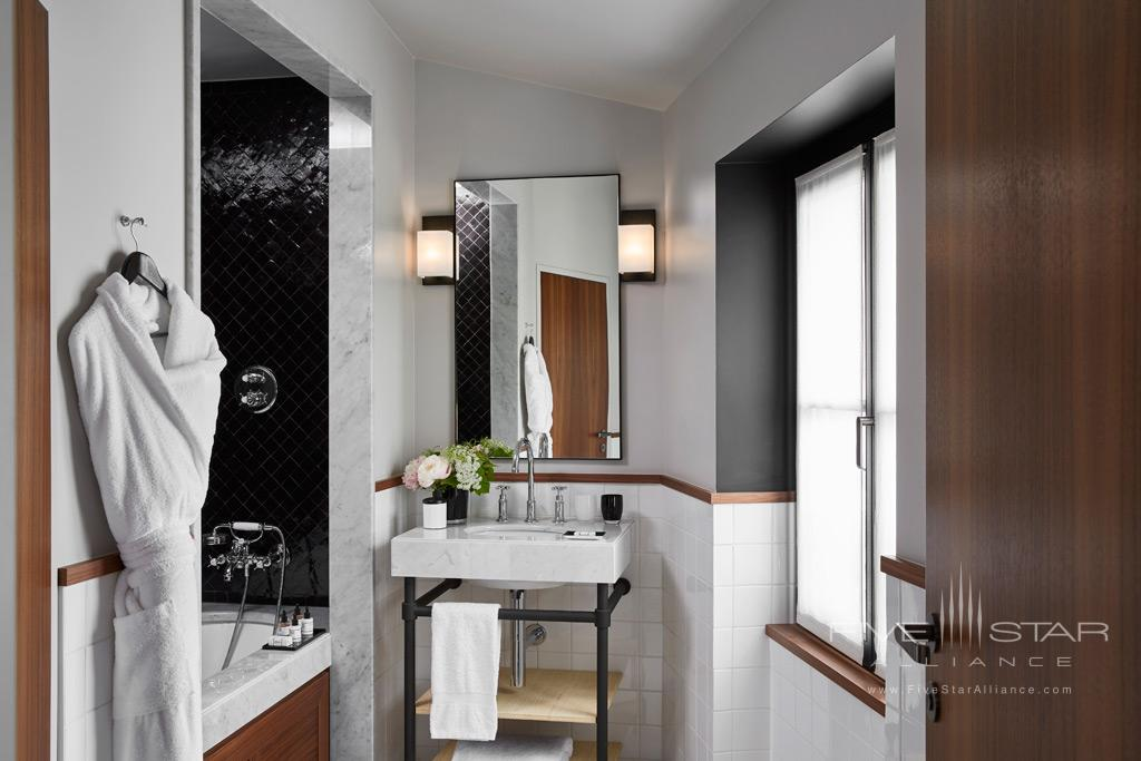 Deluxe Guest Room Bath at Le Roch Hotel & Spa, Paris, France