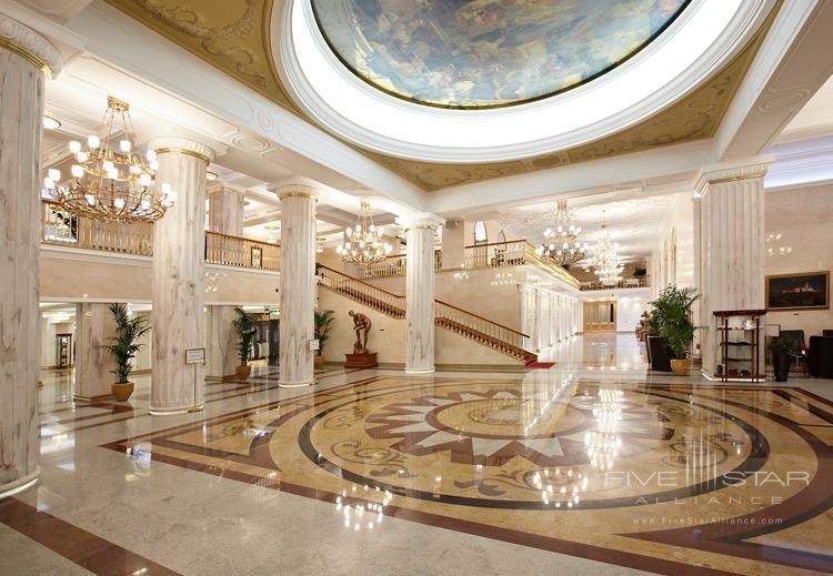 Lobby of Radisson Royal Hotel Moscow, Russia