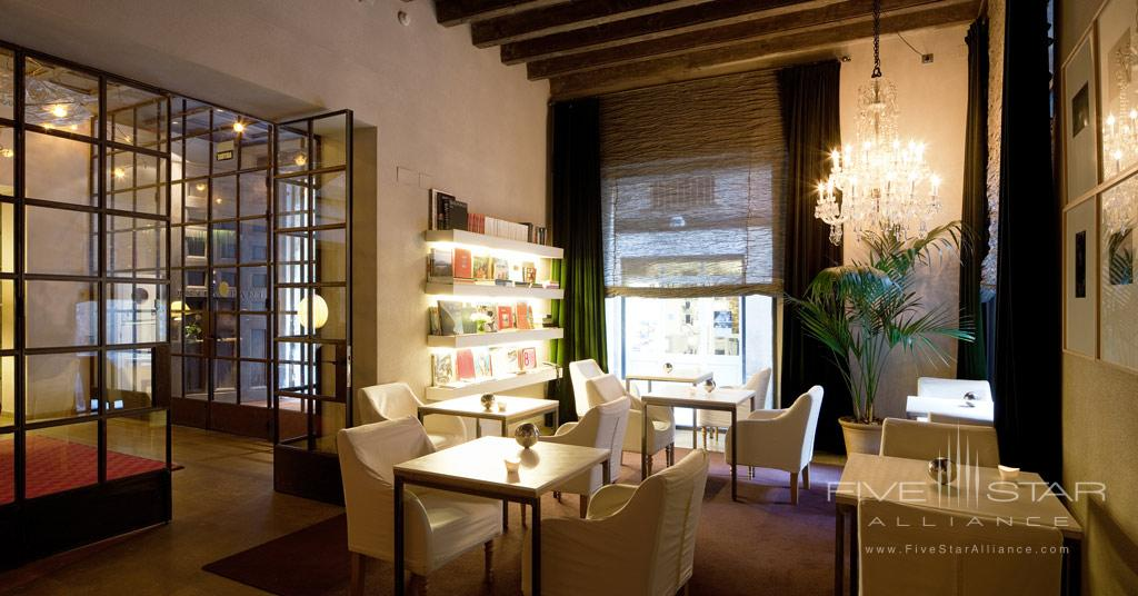 Library at Neri Hotel, Barcelona, Spain