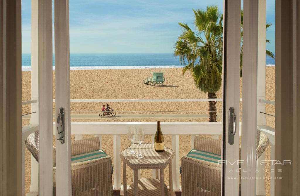 Guest Room Balcony with Beach Views at Shutters On The Beach, Santa Monica, CA