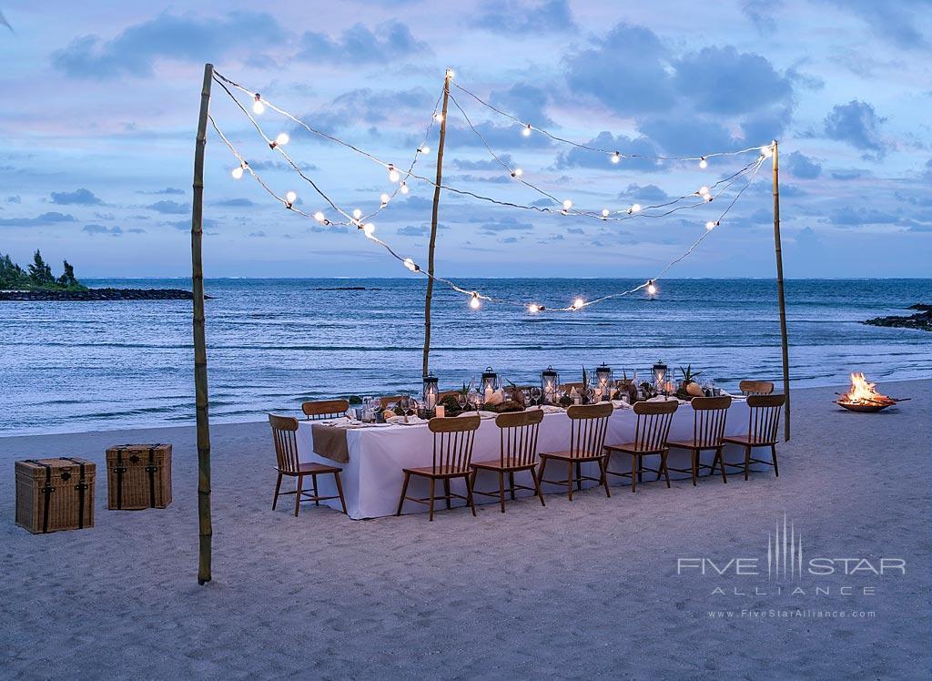 Private Beach Dining at Shangri-La's Le Touessrok Resort, Trou d'Eau Douce, Mauritius