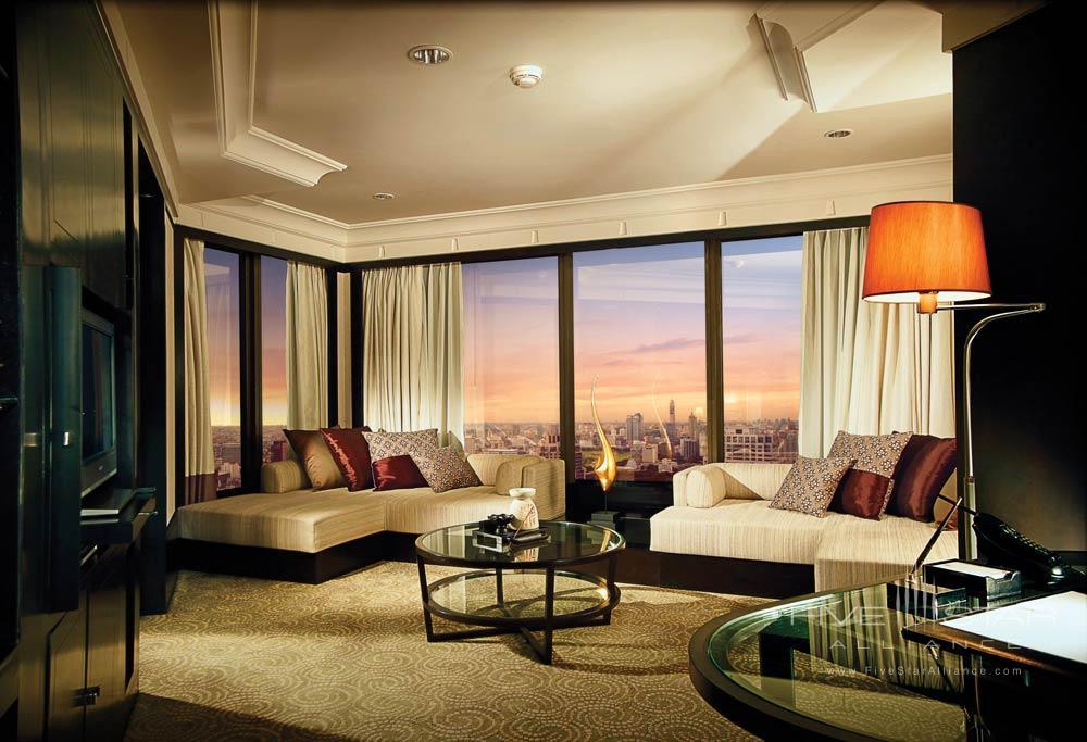 Spa Suite Living Area at Banyan Tree Bangkok