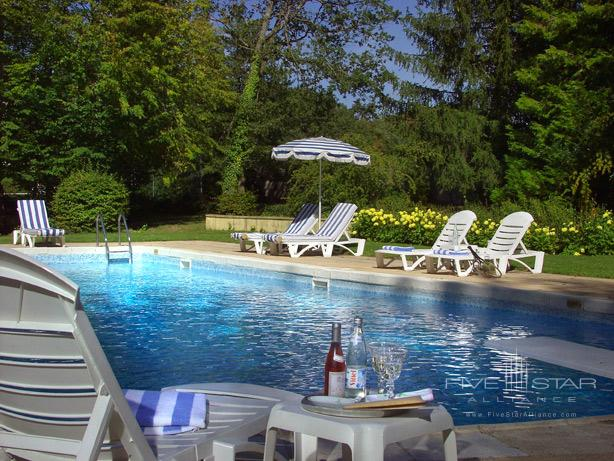 Chateau DAntigny pool, Montbazon, France