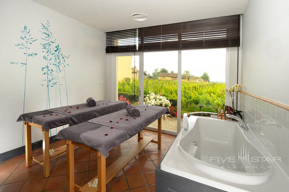 Spa Treatment Room at Hotel Chateau Grand Barrail Saint EmilionFrance