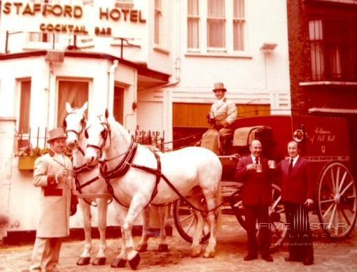 The Stafford London.Mr. Louis Crozet (left) and Mr. Charles Guano (right).Mr Crozet was the first head barman at The American Bar and he was later succeed by Charles. To this daythere have only been three who have held the title of Head BarmanBenoit Provost took over from Charles in 1997 and still runs the bar today.