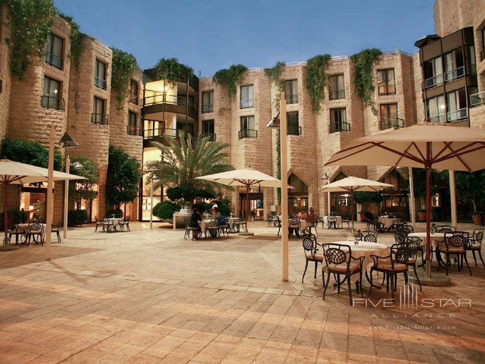 Courtyard at Inbal Jerusalem