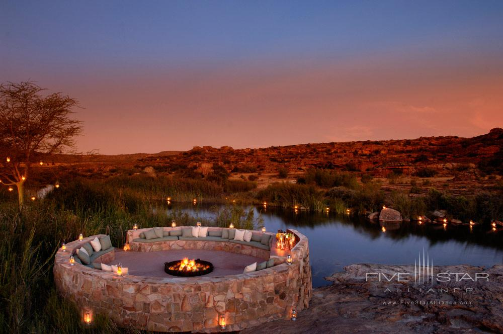 River Side Boma at Bushmans Kloof Wilderness Reserve Western CapeSouth Africa