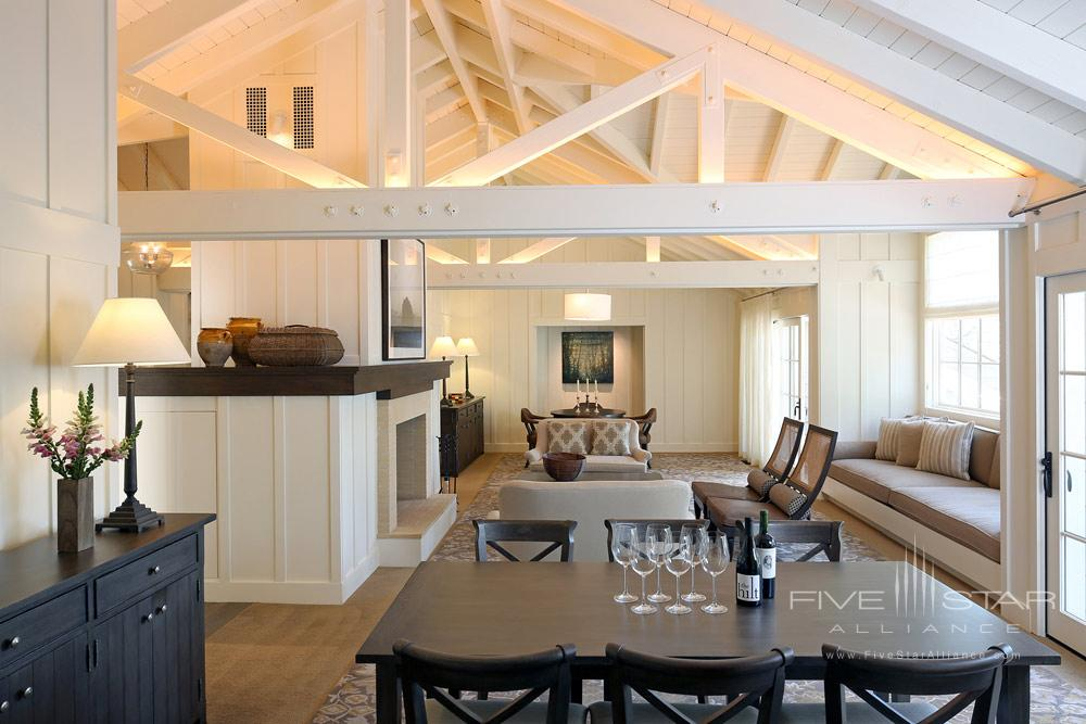 Lodging Estate Living Room at Meadowood Napa Valley, CA