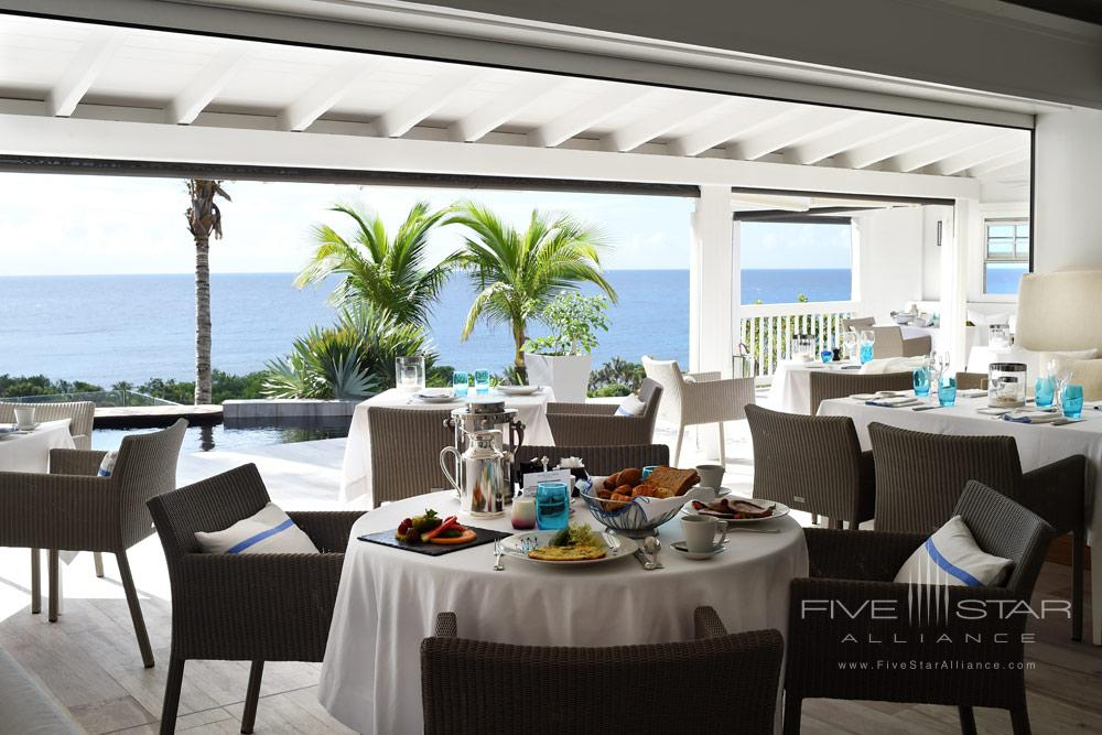 Dining at Hotel Le Toiny, St Barthelemy