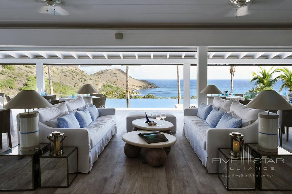 Water View Lounge at Hotel Le Toiny, St Barthelemy