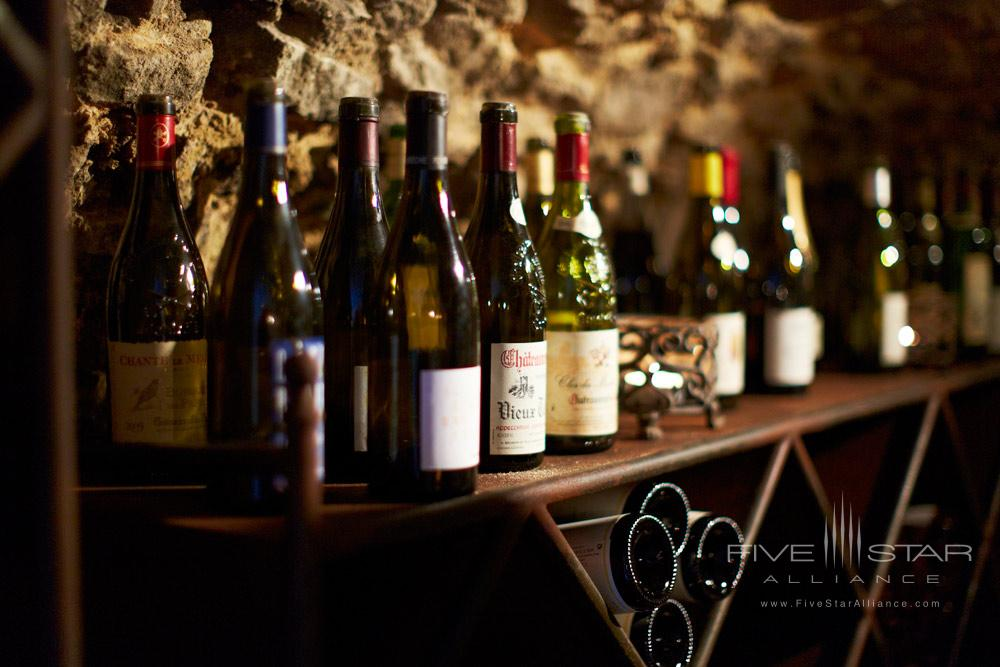 Various Wine Choices at Hotel Crillon Le Brave
