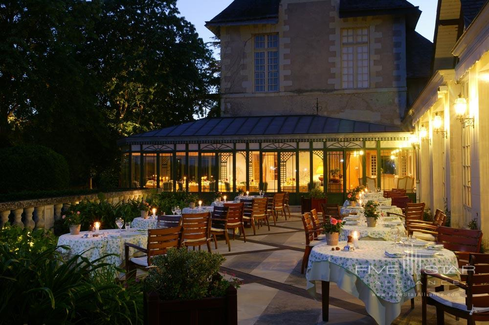 Terrace Dining at Chateau De NoirieuxFrance