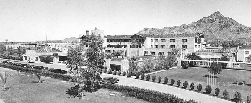 Historical photo of the Arizona Biltmore Hotel from April 1937.