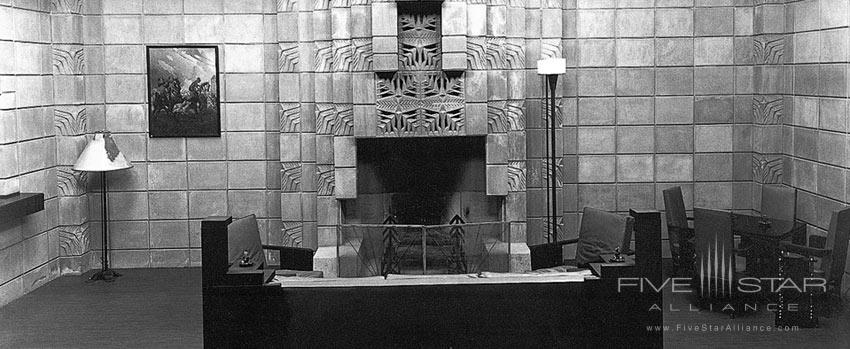 Archive photo from the Arizona Biltmore Hotel of theirSmoking Room.The hotel opened in February 1929.