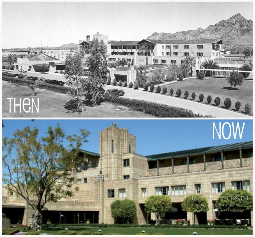 The Arizona Biltmore Hotel - Now and from April 1937.