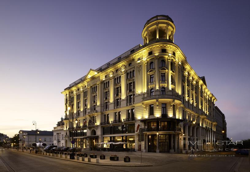 Hotel Bristol Warsaw Exterior Night